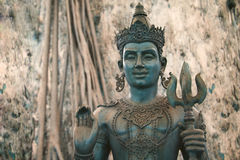 Buddha image and place of religion art Royalty Free Stock Photography