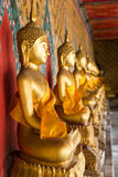 Buddha Image. Row in Wat Arun, Temple of Dawn, Bangkok Thailand Royalty Free Stock Image