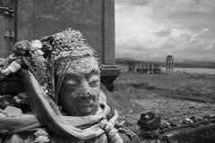 Buddha image at Sangklaburi. Buddha image at drowned temple at Sangklaburi Thailand Royalty Free Stock Photography
