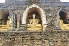 Buddha image on side of ancient pagoda,Sri Sacha Na Lai,Thailand Royalty Free Stock Images