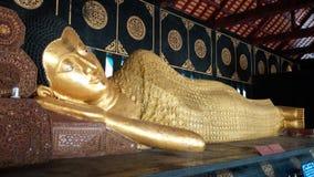 Buddha Image Style. Style of Buddha image at Lanna Temple,  Chiang Mai Stock Image