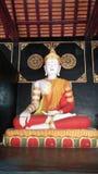 Buddha Image Style. Style of Buddha image at Lanna Temple,  Chiang Mai Royalty Free Stock Photo