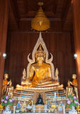 Buddha Image of Subduring Mara in the ordination Royalty Free Stock Photography