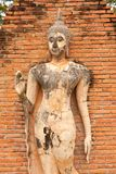Buddha image in Sukhothai historical park Royalty Free Stock Photo