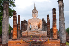 Buddha image in Sukhothai historical park Stock Photos