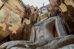 The Buddha image. The Buddha image in Sukhothai Historical Park, Thailand Royalty Free Stock Photo