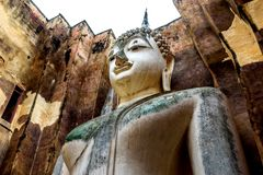 The Buddha image. The Buddha image in Sukhothai Historical Park, Thailand Stock Photography