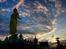 Buddha image. With sunset sky Stock Photography