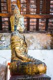 Buddha image in the temple, The art in the period of Ayutthaya at Wat Bot Phatumtanee Thailand. February 17, 2019 royalty free stock photos