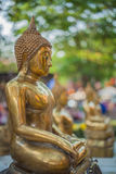 Buddha image. On a temple boke Royalty Free Stock Photo