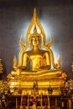 Buddha image in the temple. Buddha Chinnarat model Wat Benchamabophitr Dusit Wanaram Dusit Bangkok Buddha Chinatas replica A Buddha statue in the parish. Replica Royalty Free Stock Image