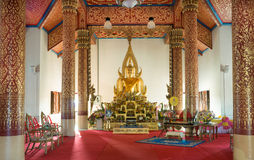 Buddha image in a temple Stock Photography