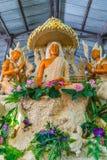 Buddha image with Thai literature goddesses Stock Photo