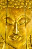 Buddha image in Thai style wood graving Stock Image
