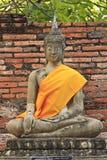 Buddha image in thai temple. Wat yai chaimongkol ayuthaya, center of thailand Royalty Free Stock Image