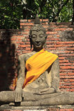 Buddha image in thai temple. Wat yai chaimongkol ayuthaya, center of thailand Stock Image
