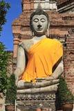 Buddha image in thai temple. Wat yai chaimongkol ayuthaya, center of thailand Royalty Free Stock Photo