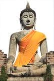 Buddha image in thai temple. Wat yai chaimongkol ayuthaya, center of thailand Royalty Free Stock Photos