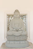 Buddha image in Thai temple. Style rock engraving Stock Photo