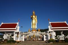 Buddha image, Thailand. Buddha image and blue sky in sunny day Royalty Free Stock Photo
