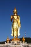 Buddha image, Thailand. Buddha image and blue sky in sunny day Royalty Free Stock Image