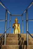 Buddha image, Thailand. Buddha image and blue sky in sunny day Stock Photos