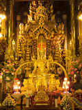 Buddha image,  Thailand temple decoration Royalty Free Stock Photo