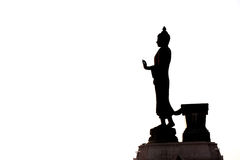 Buddha image in walking posture Royalty Free Stock Photography