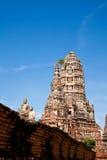 Buddha image in wat chai wattanaram Stock Image