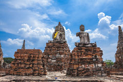 Buddha image of Wat Chai Wattanaram Ayuthaya Royalty Free Stock Images