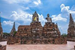 Buddha image of Wat Chai Wattanaram Ayuthaya Stock Photo