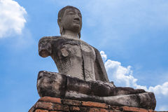 Buddha image of Wat Chai Wattanaram Ayuthaya Royalty Free Stock Photography