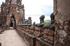 Buddha image of Wat Chai Wattanaram Ayuthaya Royalty Free Stock Image