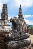 Buddha image of Wat Chai Wattanaram Ayuthaya Stock Image
