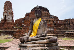 Buddha image at Wat Mahatat in Ayuttaya, Thailand Royalty Free Stock Image