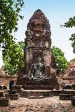 Buddha image at Wat Mahathat (Temple),Ayutthaya,Th Stock Images