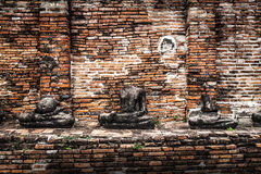 Buddha image at Wat Mahathat (Temple), Ayutthaya, Thailand. Unes Stock Photography