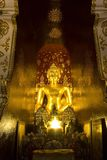 Buddha image at Wat Pa Dara Phirom, Chiang Mai Thailand Royalty Free Stock Photography