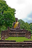 Buddha image in Wat Phra Kaeo, Kamphaeng Phet Hist Stock Photo