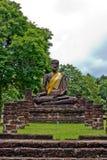 Buddha image in Wat Phra Kaeo, Kamphaeng Phet Hist. Orical Park, Thailand Stock Photo