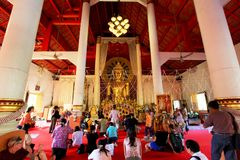 Buddha Image In Wat Phra Singh, Chiang Mai, Thailand Royalty Free Stock Image