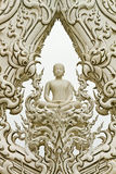 Buddha image at Wat Rong Khun, Thailand Stock Photography