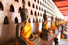 Buddha Image at Wat Si Saket Stock Photo