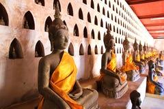 Buddha Image at Wat Si Saket Stock Photo
