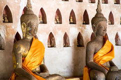 Buddha image Wat Si Saket temple  is an ancient  Buddhist temple in Vientiane Stock Image