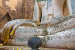 The Buddha image in Wat Sri Chum temple at Sukhothai Historical. Park, Thailand Royalty Free Stock Photography