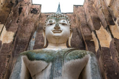 The Buddha image in Wat Sri Chum temple at Sukhothai Historical. Park, Thailand Stock Photos