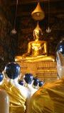 Buddha image in Wat Suthat , Bangkok Royalty Free Stock Image