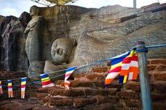 Buddha images. In Gal Vihara temple, Polonnaruwa, Sri Lanka Royalty Free Stock Images