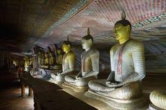 Buddha images. In Dambulla rock cave temple, Sri Lanka Stock Images